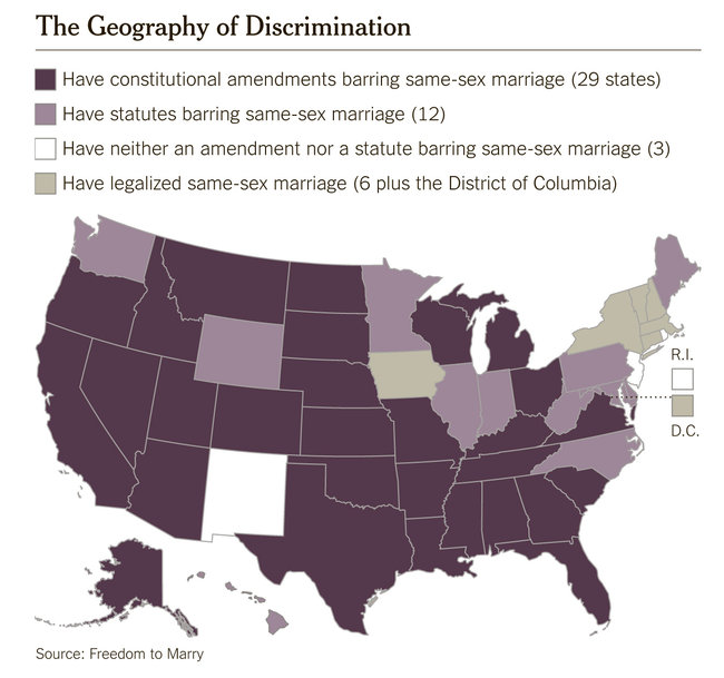 The First Jurisdictions to Legalize Gay Marriage