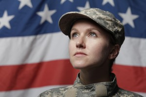woman in armed forces