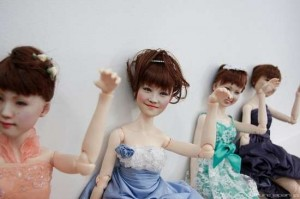 "Clone Factory dolls feature real ""cloned"" faces. Image: Trend Hunter"