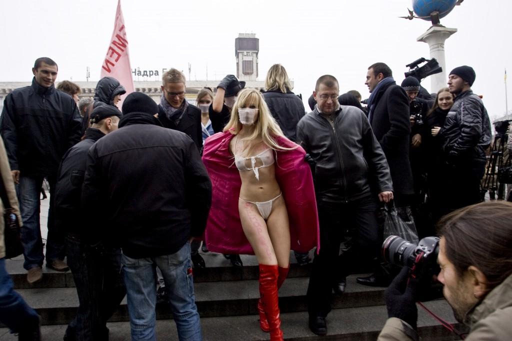 Femen protest, Kiev Ukraine 2009
