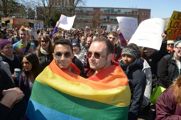 UMass Rally Sends Westboro's Would-Be Picket Packing