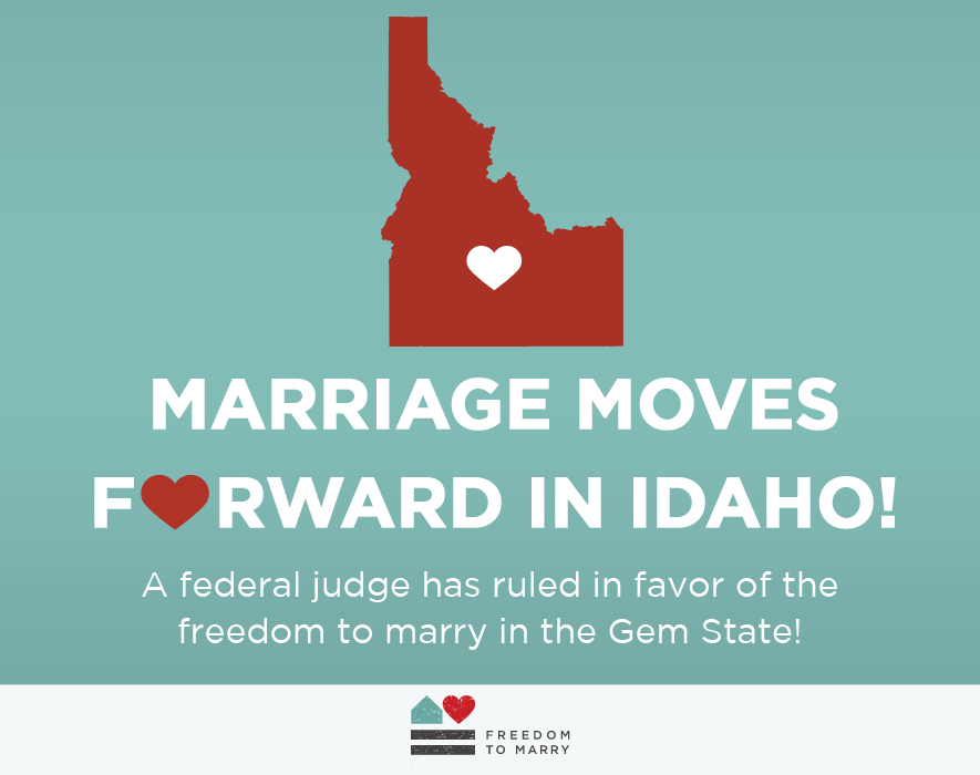 Idaho Judge Rules In Favor of Marriage Equality