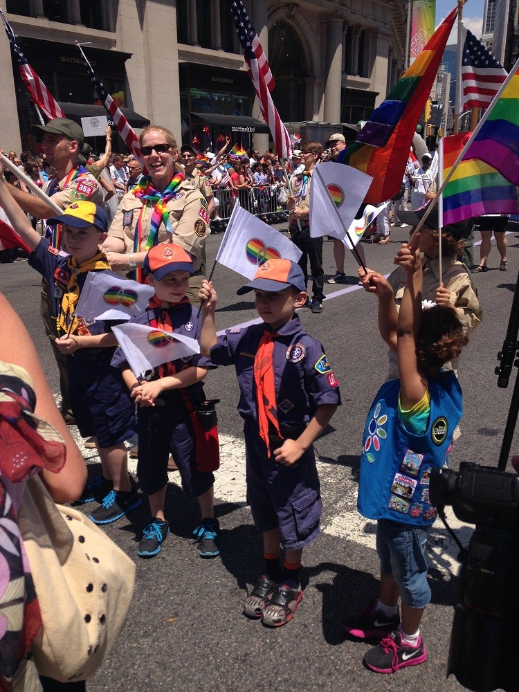 Boy Scouts March at NYUC Pride