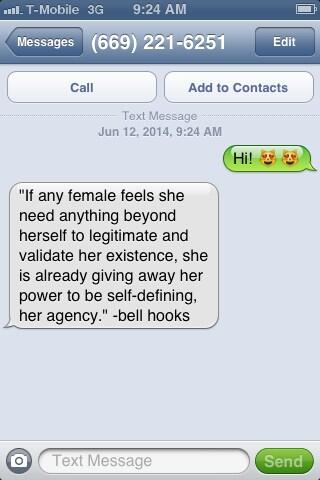 The bell hooks Hotline: A Feminist Phone Intervention