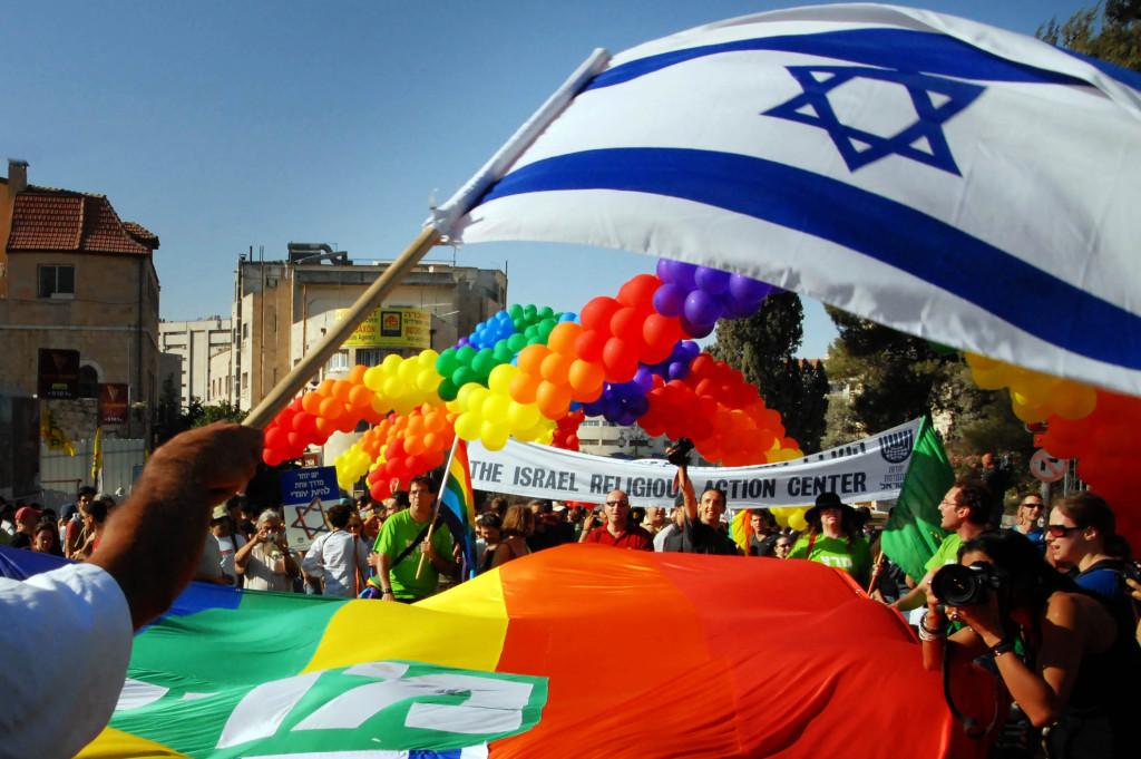 Israeli LGBT community and friends march along King David road on June 21, 2007 in Jerusalem, Israel.