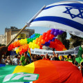 Israeli LGBT community and friends march along King David road on June 21, 2007 in Jerusalem, Israel.