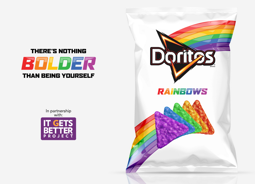 It Gets Better Rainbow Colored Doritos