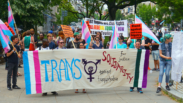 The first trans solidarity march in Washington, DC on May 17, 2015.