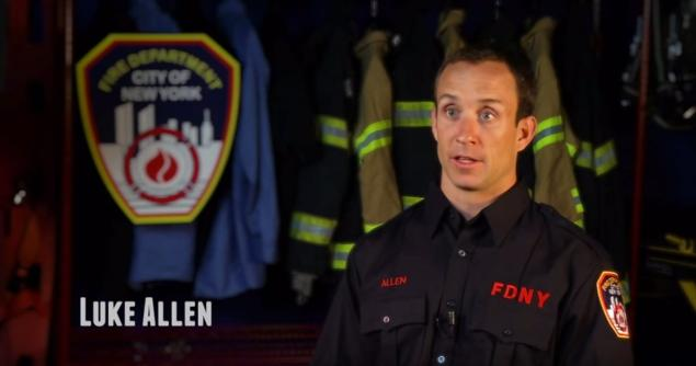 ay New York Firefighter Luke Allen says in the 8-minute video for the It Gets Better campaign supporting LGBT youth.