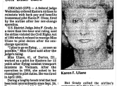 Karen Ulane was a aviator in the Vietnam War and a pilot for Eastern Airlines before she was fired for her gender transition.