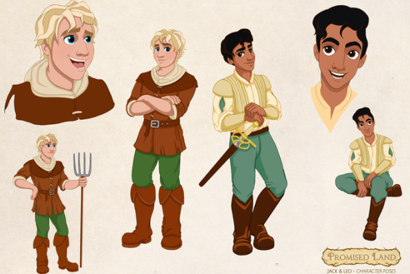 In Promised Land, an illustrated book for 5 to 10-year-olds, Prince Leo and Jack the Farm Boy fall in love—an affirming LGBT love story that's already a big hit on Kickstarter.