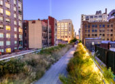 A photo of High Line Park, located in New York.