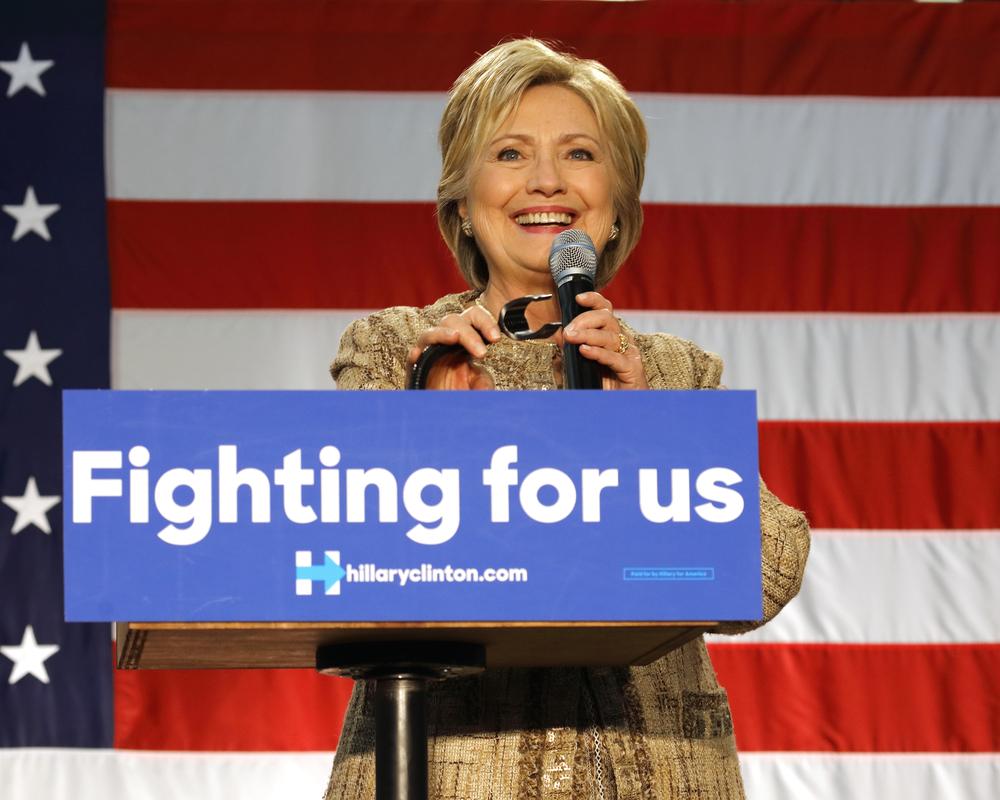 A photo of Hillary Clinton.