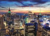 A photo of the New York City skyline.
