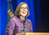 A photo of Oregon Governor Kate Brown.