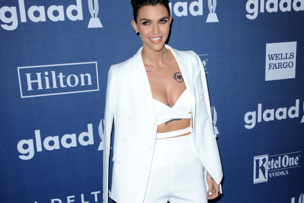 A picture of Ruby Rose at the GLAAD Media Awards.