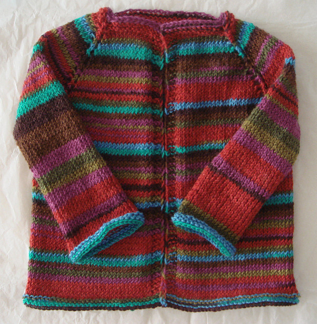 A gender neutral children's sweater.