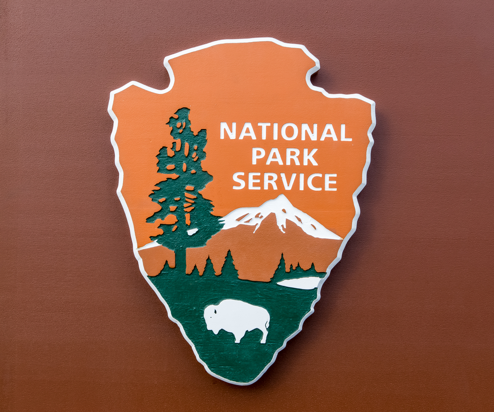 A photo of a National Park Service sign.