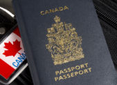 A photo of a Canada passport.