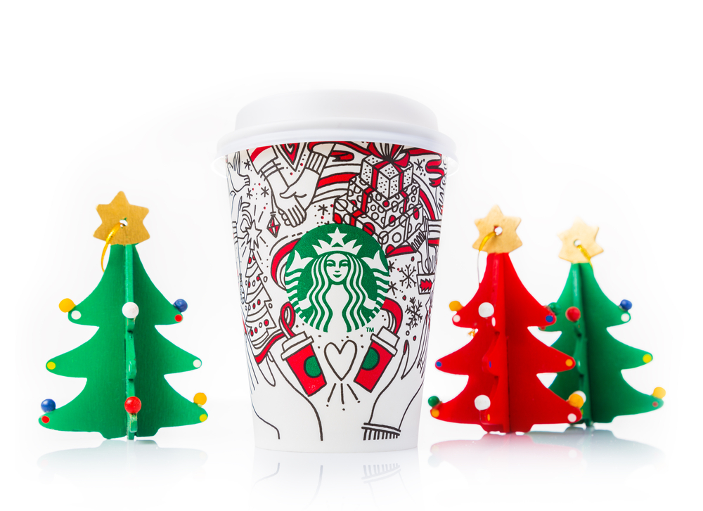 A photo of Starbucks' 2017 holiday-themed cup.