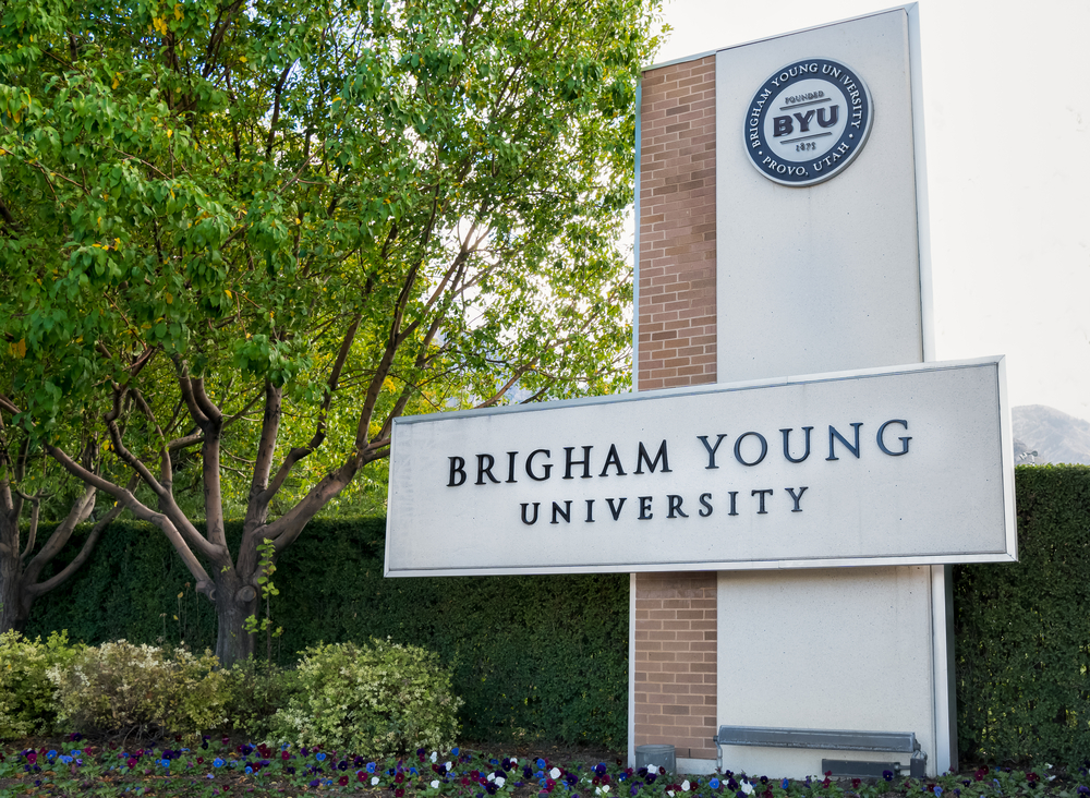 A photo of Brigham Young University, a Mormon college.