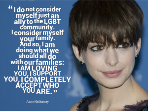 Anne Hathaway equality