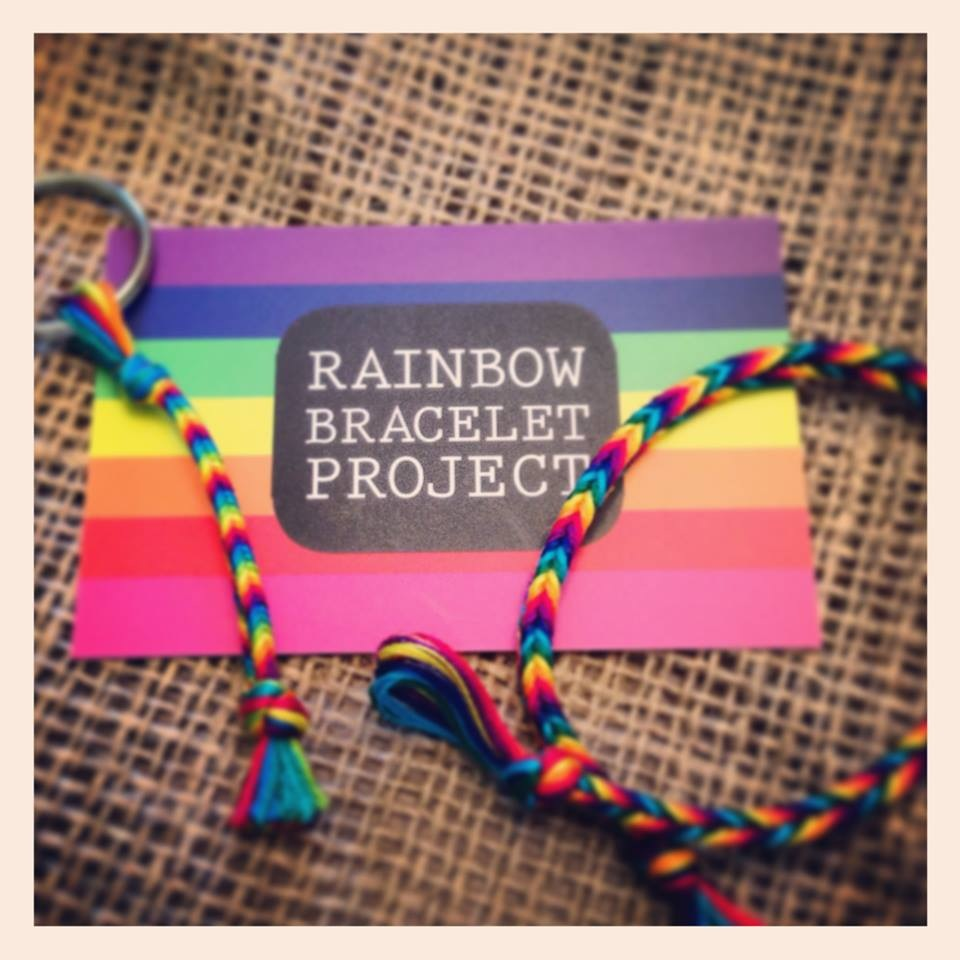 Allison Tannehill, Andrea Free, and Rainbow Bracelet Project