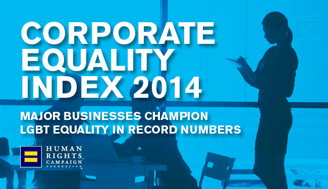 HRC Issues Its Annual Corporate Equality Index