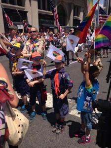 Boy Scouts March at NYUC Pride