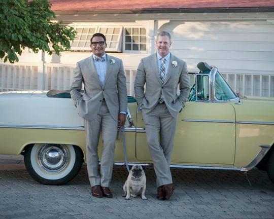 Slurs Yelled as Gay Couple Weds in California