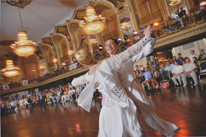 Angela Jimenez, Same-Sex Ballroom, Petra & Caroline, Chicago, 2006 | Digital C-print, 13 x 20 in.