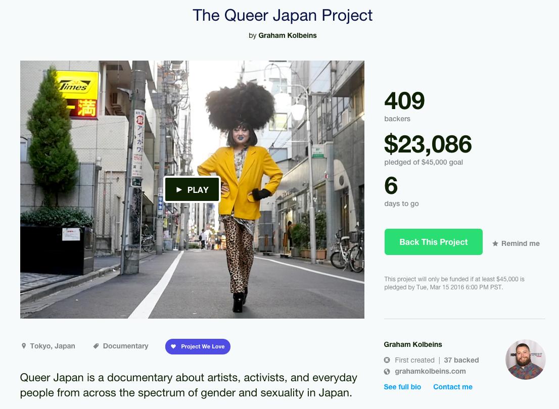 Filmmakers Want to Kickstart Our Understanding of Queer Japan