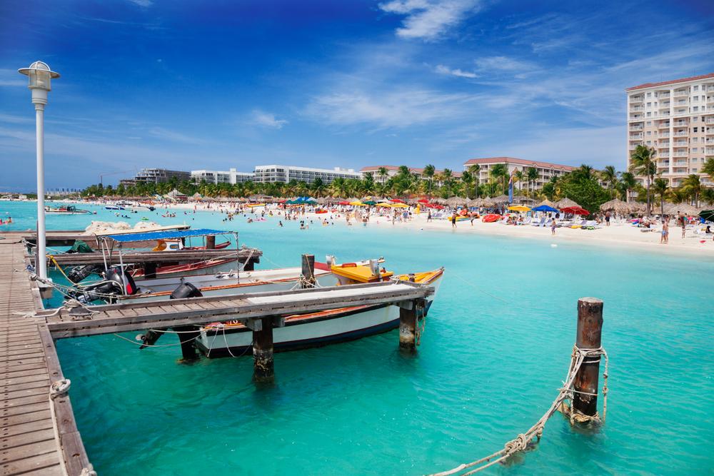 A photo of Palm Beach, Aruba.
