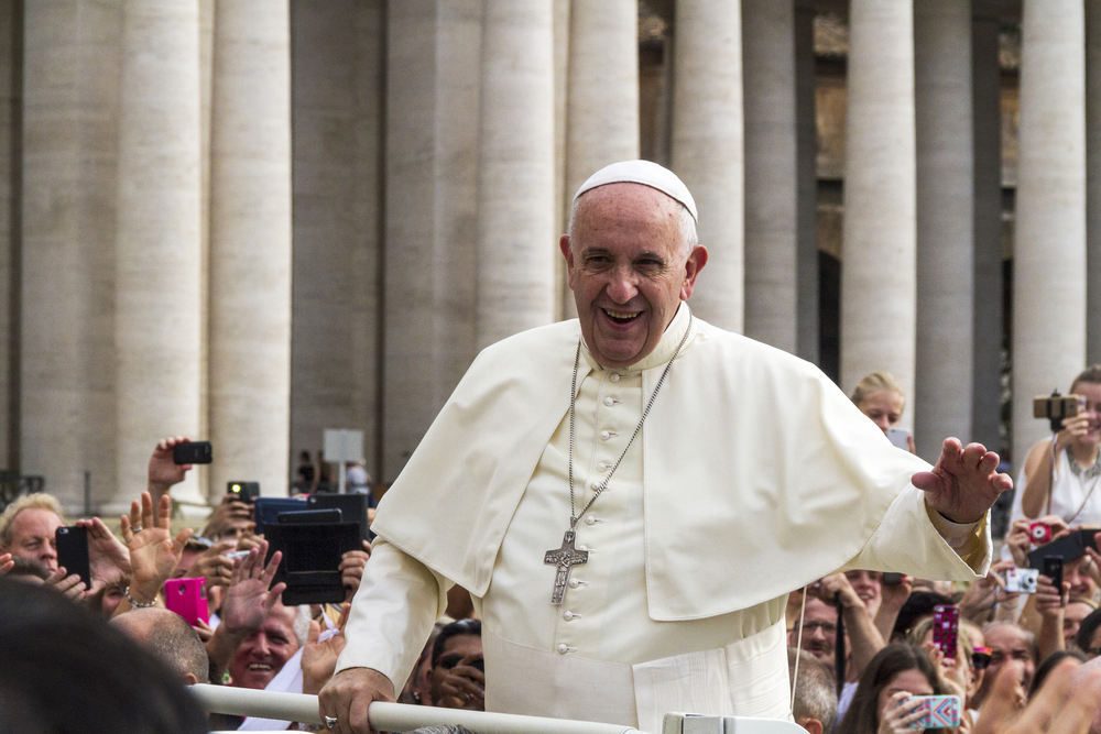 A photo of Pope Francis.