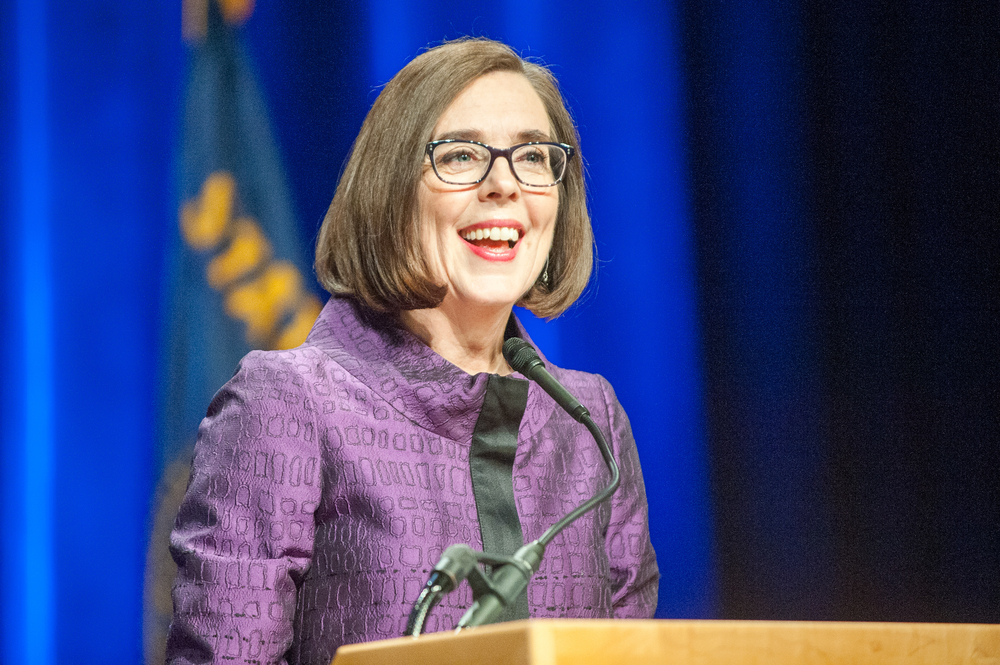 A photo of Oregon Governor Kate Brown.