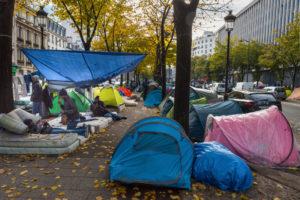 A homeless camp.
