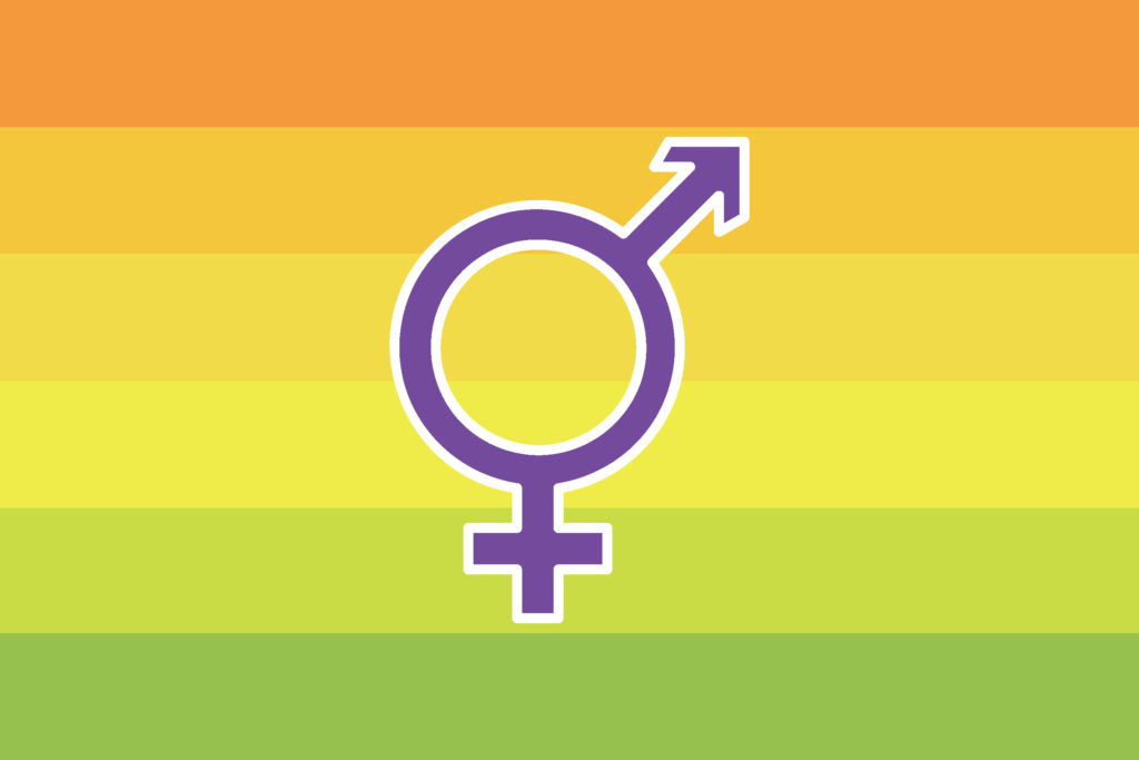 An image of a male and female symbol combined into one.