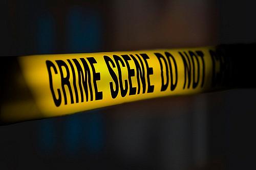 A photo of crime scene tape.