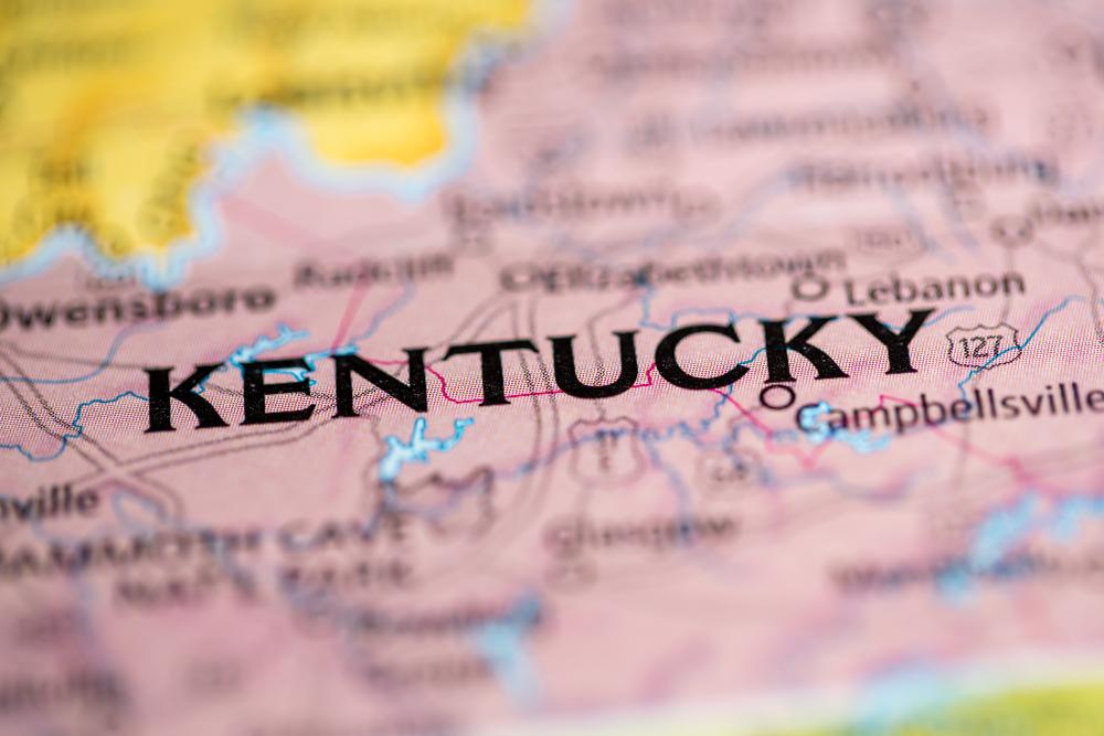 A map of Kentucky.