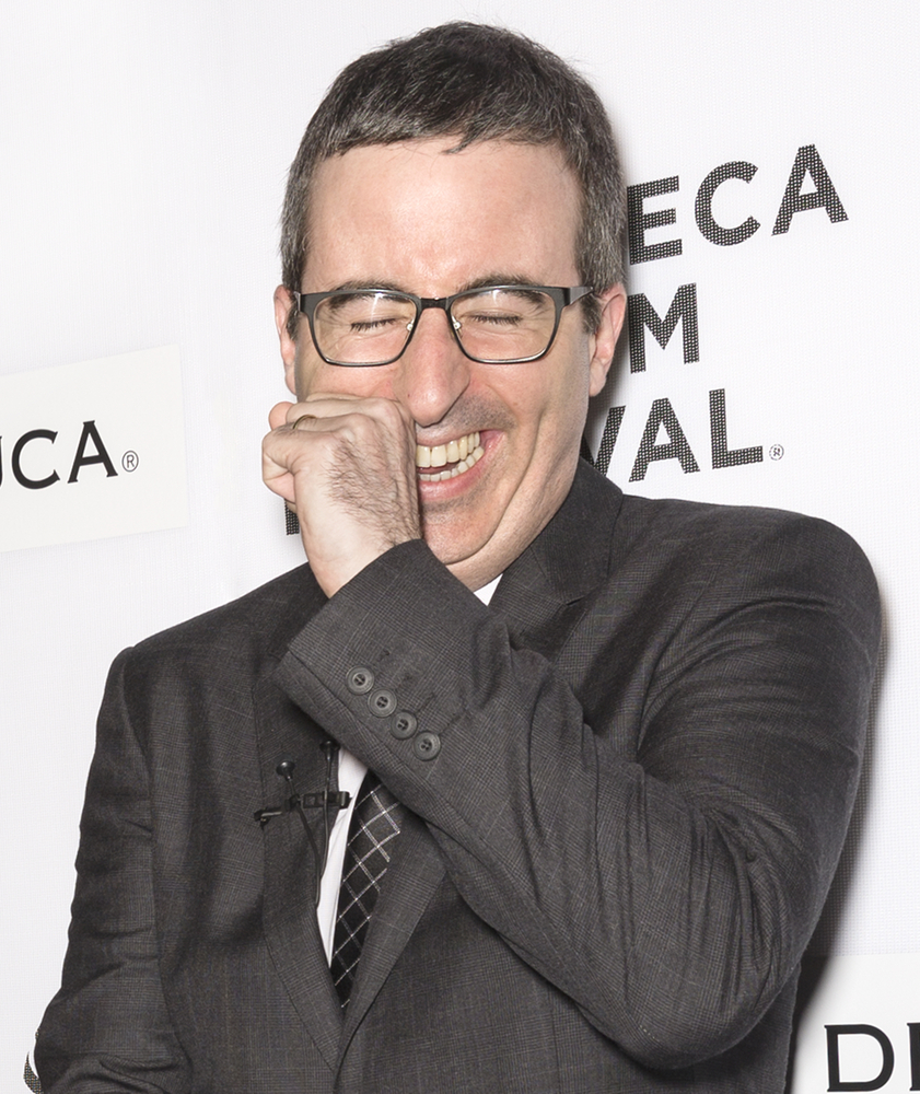 A photo of John Oliver at the Tribeca Film Festival.