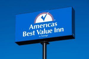 A sign for America's Best Value Inn.
