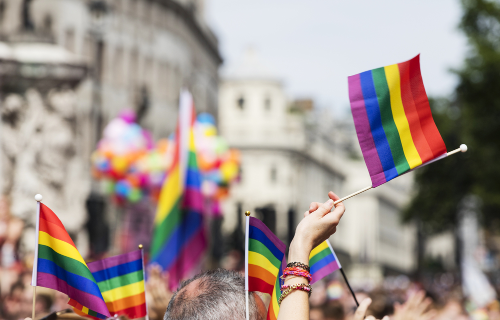 A Pride parade in London.