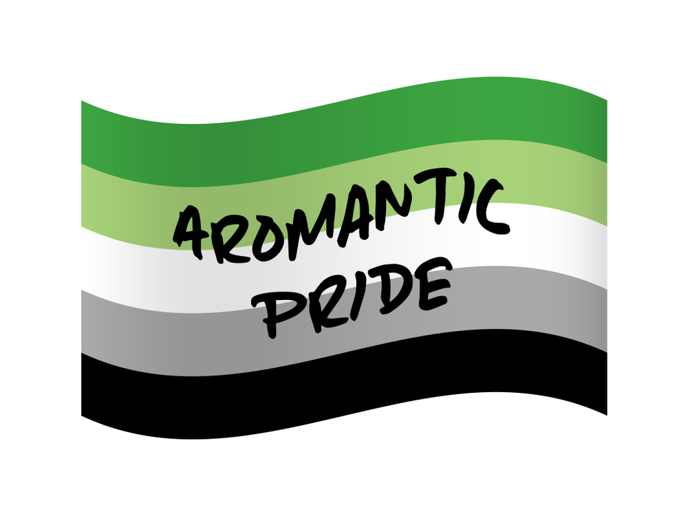 A flag that represents aromantic pride.