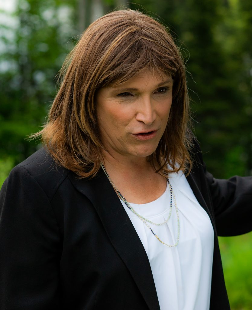 A photo of Christine Hallquist, a trans woman who won the 2018 Democratic nomination for Governor of Vermont.